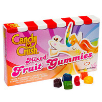 Candy Crush Mixed Fruit Gummy Candy Theater Boxes: 12-Piece Case