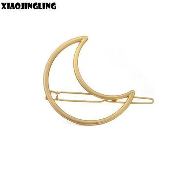 XIAOJINGLING Gold Moon Hair Pin Jewelry Hair Clip Fashion Charm  Hair Jewelry  Birthday Gift Hair Jewelry Women Girl Hairpin