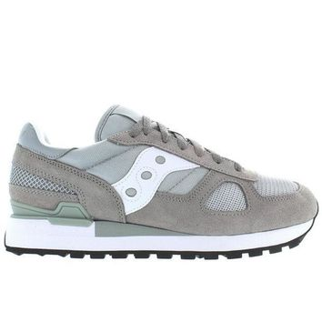 ESBONIG Saucony Shadow Original - Grey/White Suede/Nylon Sneaker