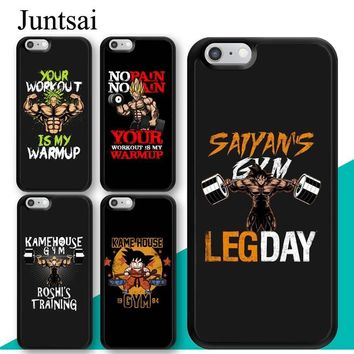 Dragon ball Dragonball capsule Juntsai Vegeta Goku Gym Training  Z Phone Case for iphone 5 5s SE 6 6s 7 8 Plus X TPU Plastic Coque For iphone 7 Plus AT_85_9
