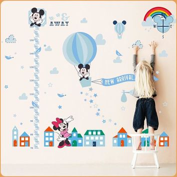 Mickey mouse Wall stickers for children wallpaper wall home decor kids living room bedroom decoration accessories height mural