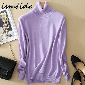 Knitted Sweater Turtleneck Knitted Pullover Women Cashmere Blouse Winter Tops Elastic Slim Casual Coats Female Knitted Sweater