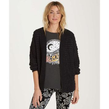 Billabong Women's Just Fur You Cardigan | Black