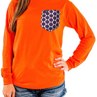 Clemson Spirit Wear Long Sleeve Pocket Tee