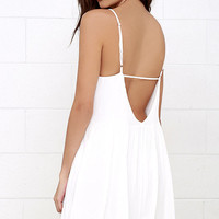 Dream State Ivory Babydoll Dress