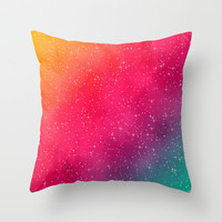 Colorful Galaxy Throw Pillow by Texnotropio | Society6