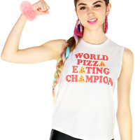 PIZZA CHAMPION MUSCLE TEE