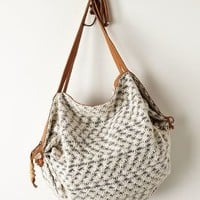 Daisy Beach Hobo Bag by Miss Albright Black & White One Size Bags