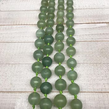 1 strand,15mm-20mm, Natural Green Nephrite Jade Round Beads,18-21 bead/st, NPH09