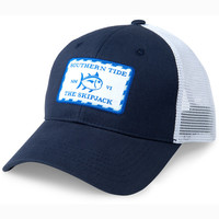 SIGNATURE PATCH TRUCKER HAT IN NAVY BY SOUTHERN TIDE