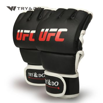 UFC Competition Grade MMA Gloves  UFC Sparring Punch Ultimate Mitts Sanda Fighting Training Sandbag Equipment Pair for Adult Men