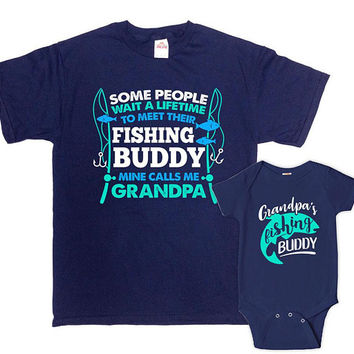 Grandpa And Grandson Shirts Matching Family Outfits Fishing Gifts For Grandpa T Shirt Grandpa And Me Gifts For Fishermen - SA1102-1103