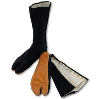 Ninja Shoes, Jikatabi, Rikkio Tabi Boots(US 5~12) Black / White!! +Travel bag (US 6.5 (24.5cm), Black)