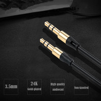 3.5mm Male to Male Audio Cable Flat Jack 3.5 mm Aux Cable for Car iPhone Samsung MP3 / 4 Headphone Mobile Phone Speaker Aux Cord