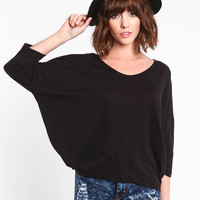 SOFT KNIT DOLMAN TOP