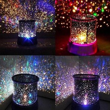 Crystal Romatic Gift Cosmos Star Sky Master Projector Starry Night Light Lamp (Color: Random) = 1945896068 Day-First™