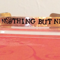 Nothing But Net  Basketball Hand Stamped by KennabelleDesigns