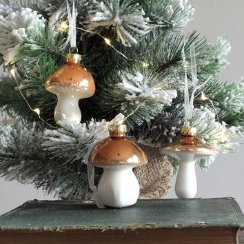 three metallic mushroom decorations by magpie living | notonthehighstreet.com
