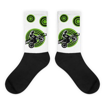 "Motocross Socks Green ""MX Rider"" from Extremely Stoked"