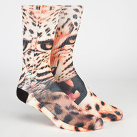 Odd Sox Cheetah Mens Tube Socks Orange One Size For Men 24224570001