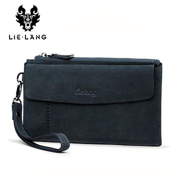 Men Wallet Luxury Long Clutch Bag Male Leather Purse Clutch Bags Large Capacity Business Wallets Coin Purse