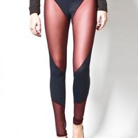 costume dept. - women's butterfly leggings (plum) - Costume Dept. | 80's Purple