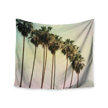 "Sylvia Coomes ""Palm Trees"" Coastal Photography Wall Tapestry"
