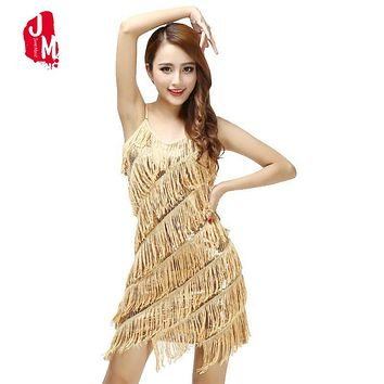 Woman 1920s Cami Dress Flapper Fringe Gold Vintage Sequin Party Dress Plus Size  Slip Sexy V-Neck Summer Dress Tassel Vestidos