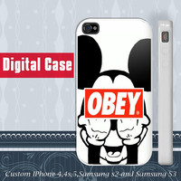 Mickey Mouse Obey Style iphone 4 case, iphone 5 case, samsung Galaxy S3 case , samsung galaxy s2 case