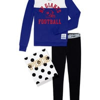 New York Giants Crew and Logo Waist Leggings Gift Set
