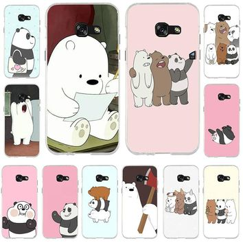 Soft TPU Phone Cases for Samsung Note 2 3 4 5 8 for HTC One U11 M7 M8 M9 M10 A9 E9 Plus Cute Panda We Bare Bear Animal Style