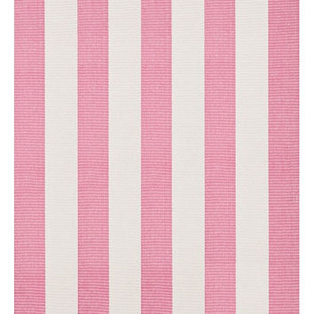 Yacht Pink Stripe Woven Cotton Rug