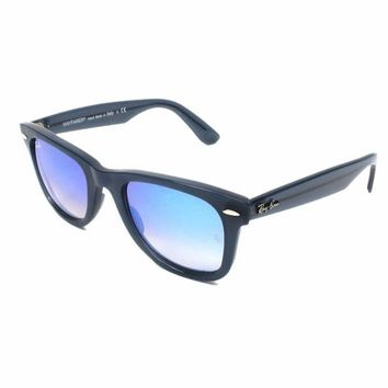 Kalete NEW RAY BAN RB4340 62324O WAYFARER BLUE BROWN GRADIENT 50mm SUNGLASSES MSRP 173