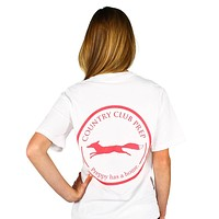 Original Logo Tee Shirt in White by Country Club Prep - FINAL SALE