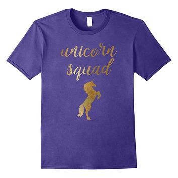Unicorn Squad Gold Shirt Unicorn T-Shirt