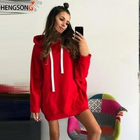 Teeages Skateboard Hoodies Women Tracksuit Hip Hop Clothing Oversized Solid Color Drawing Strap Hooded Sweatshirt