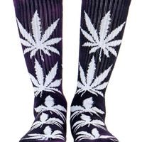 PURPLE TIE DYE PLANTLIFE SOCKS