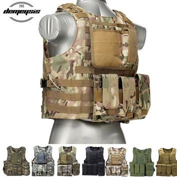 Military Tactical Vest Camouflage Body Armor Sports Wear Hunting Vest Army Molle police vest