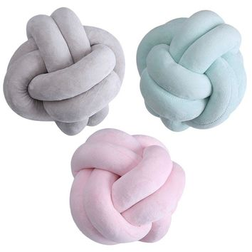 Cute!!! Nordic Style Velvet Knot Ball Cushion Pillow