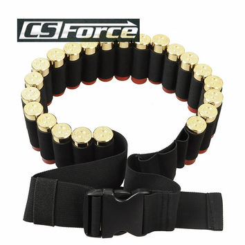140*5CM Outdoor Airsoft Hunting Tactical 25 Shotgun Shell Bandolier Belt 12 Gauge Ammo Holder Military Shotgun Cartridge Belt $