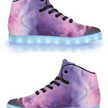Nebula - APP Controlled High Top LED Shoes