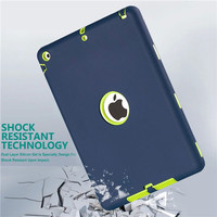 LD Protective Shockproof Rubber Silicone PC Case for Apple iPad AIR 1 Cases Cover Kids Hybrid For ipad 5