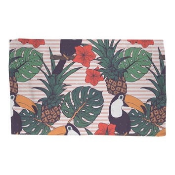 Toucans and Pineapples Rug