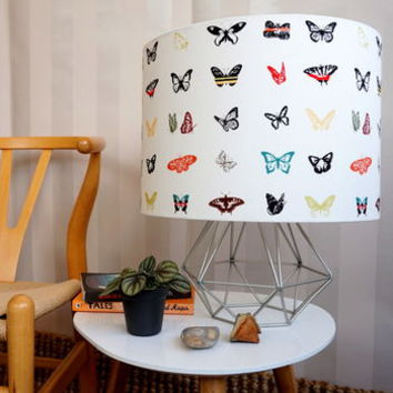 Alpine Butterflies In The Garden Handmade Lampshade