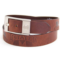 Mississippi State Bulldogs NCAA Brandish Leather Belt Size 34