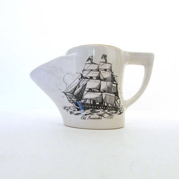 Hoffritz Made in England Old Ironsides 1797 Shaving Mug Vintage Shave Sailing Ship