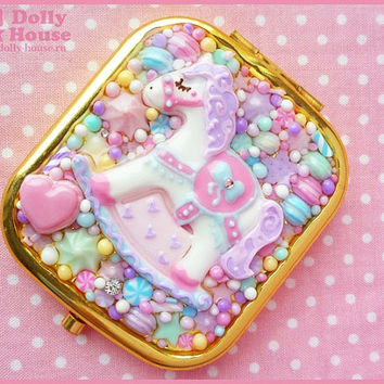 Kawaii Pastel sweet pocket mirror by Dolly House