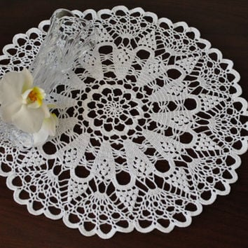 Crochet doily,White handmade doily,high quality cotton doily,Lace doily,Crochet doilies,Table or Wall decoration,Handmade lace,Wedding gift#