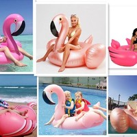 Good Quality Thick Inflatable Pink Flamingo Pool Floats Ridable Swim Pool Float Water Toy Swim Rings Air Rafts Mattress