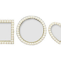 S/3 Pearls Frames, 2x2, White